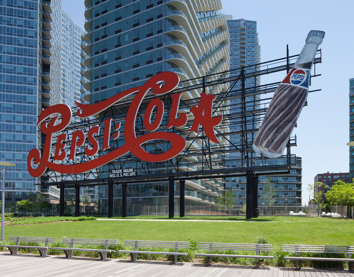 Pepsi-Cola Sign, Long Island City. Photo via LPC.