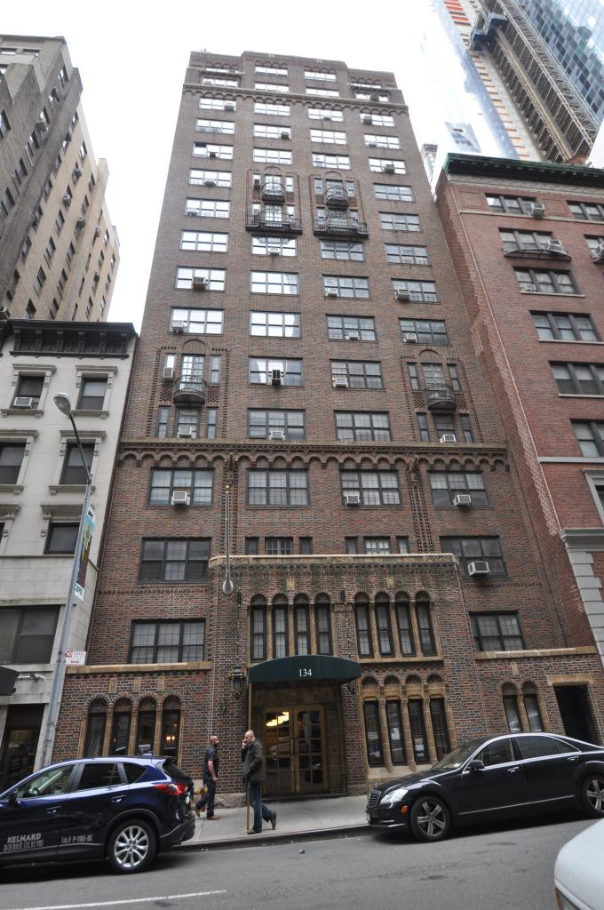 134 West 58th Street in April 2014, photo by Christopher Bride for PropertyShark