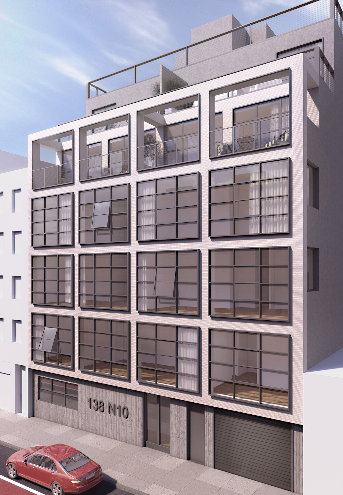 138 North 19th Street, rendering by Morris Adjmi Architects