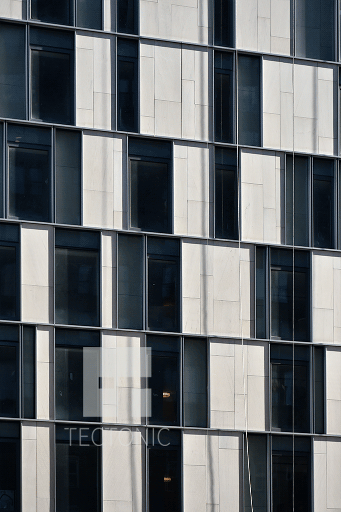 One Vandam, facade close-up. Via Tectonic.