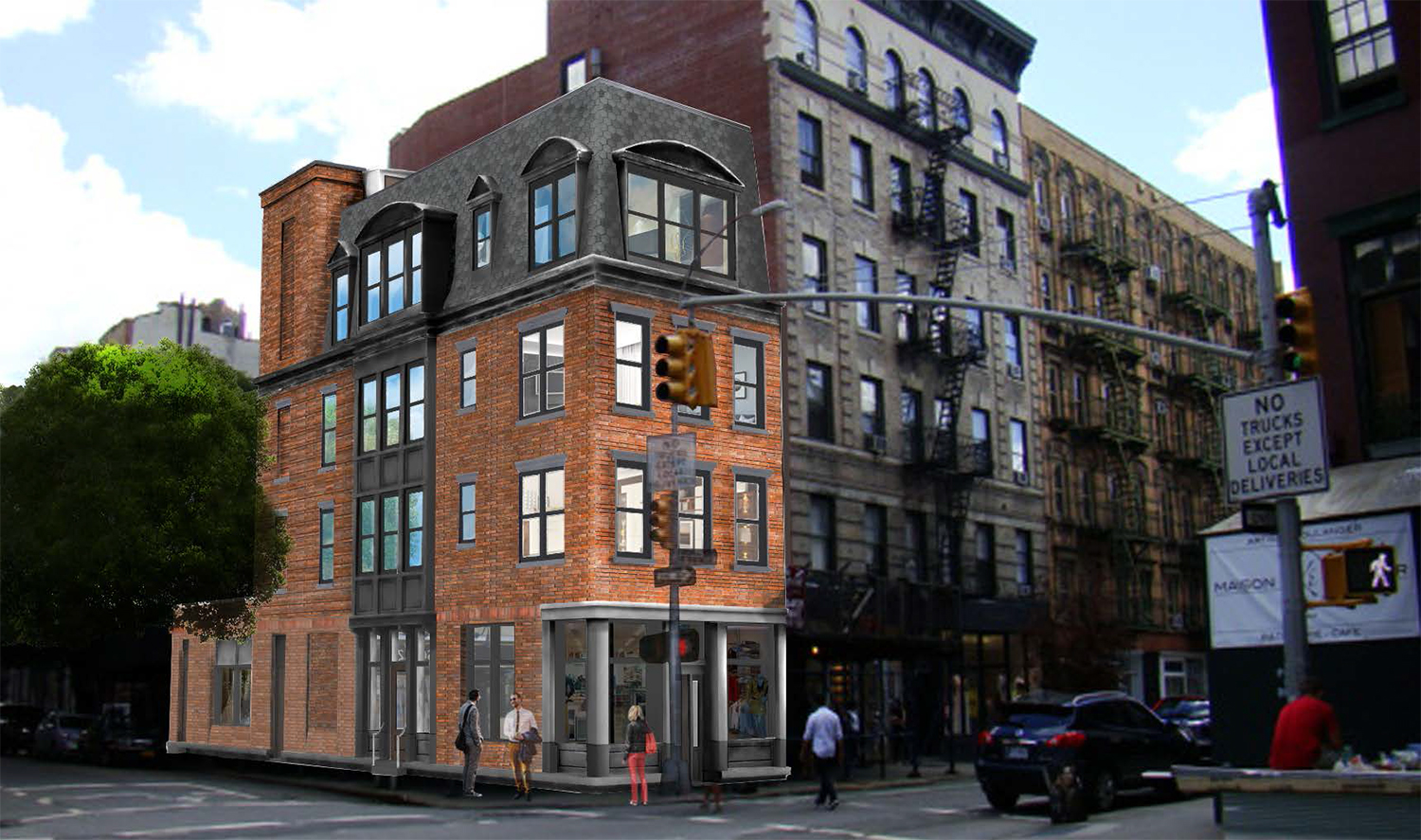 Proposal for 327 Bleecker Street (not approved)
