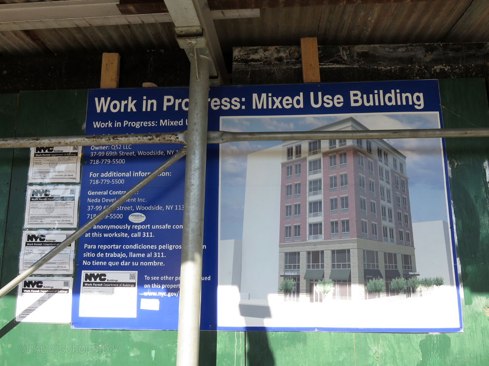 Project board at 51-25 Queens Boulevard