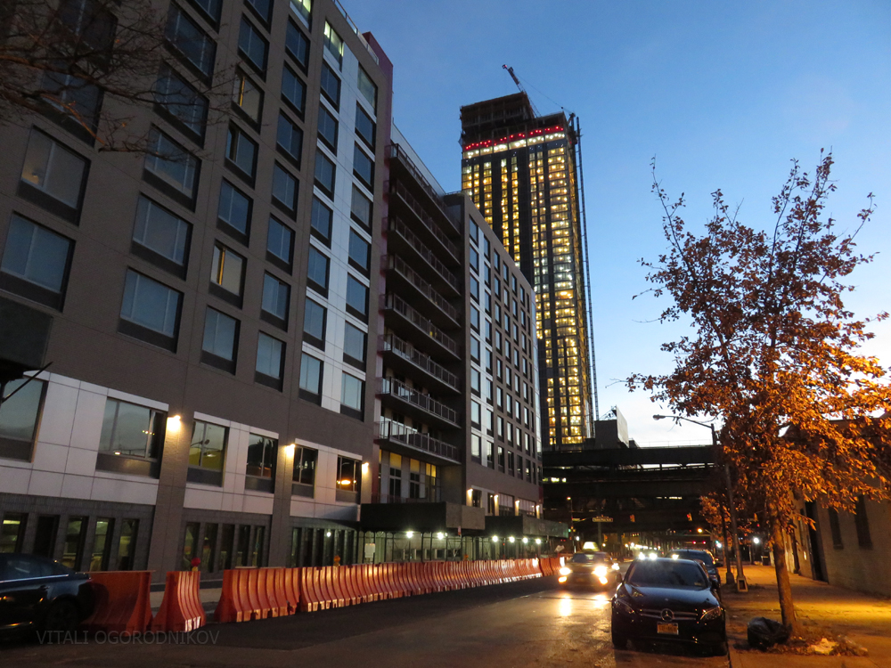 23rd Street side on October 27, with construction rubbish gone