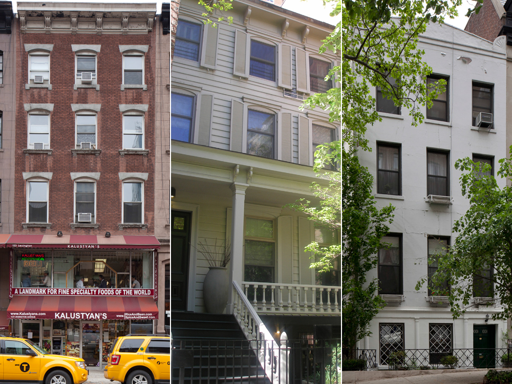President Chester A. Arthur House at 123 Lexington Avenue, 412 East 85h Street, and 150 East 38th Street. Photos courtesy Landmarks Preservation Commission.