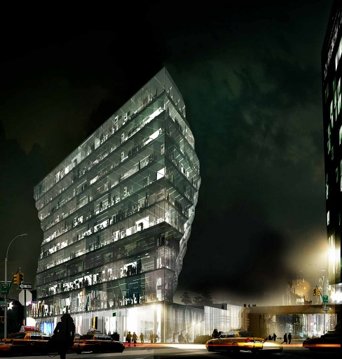 40 10th Avenue, rendering by Studio/Gang Architects40 10th Avenue, rendering by Studio/Gang Architects