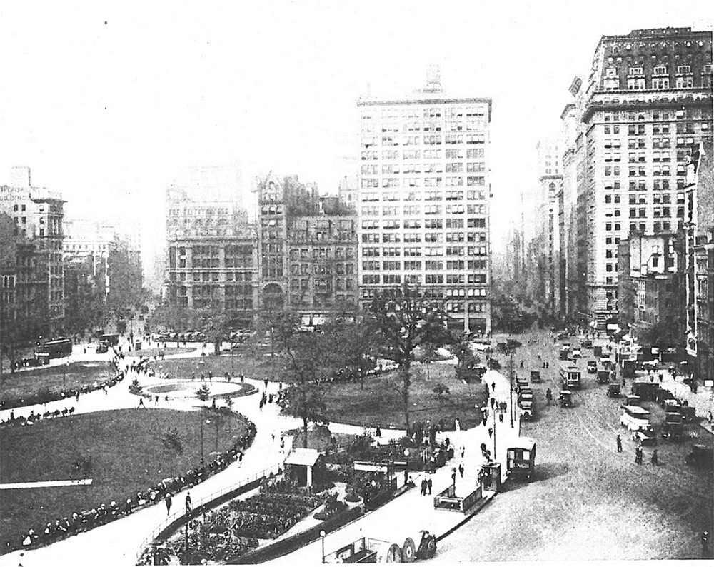 Historic image of Union Square Park, courtesy of LPC.