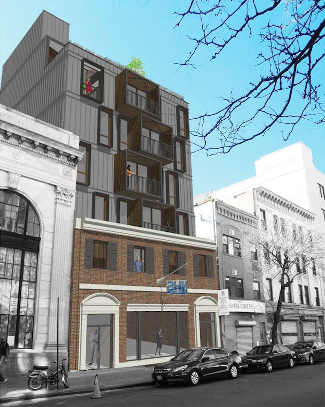 1012 Gates Avenue, rendering by Dennis George Architect