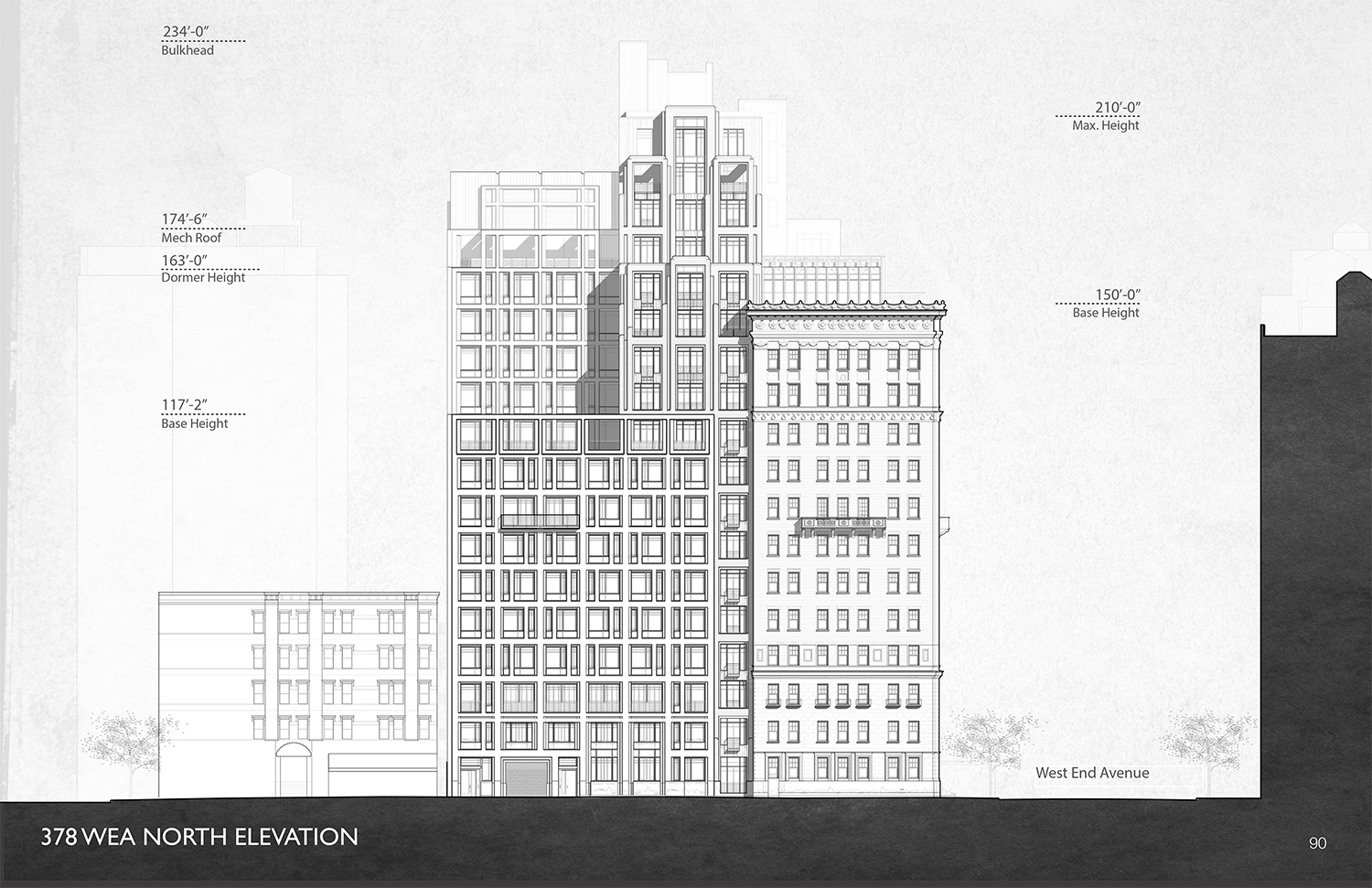 Proposed schematic of 378 West End Avenue.