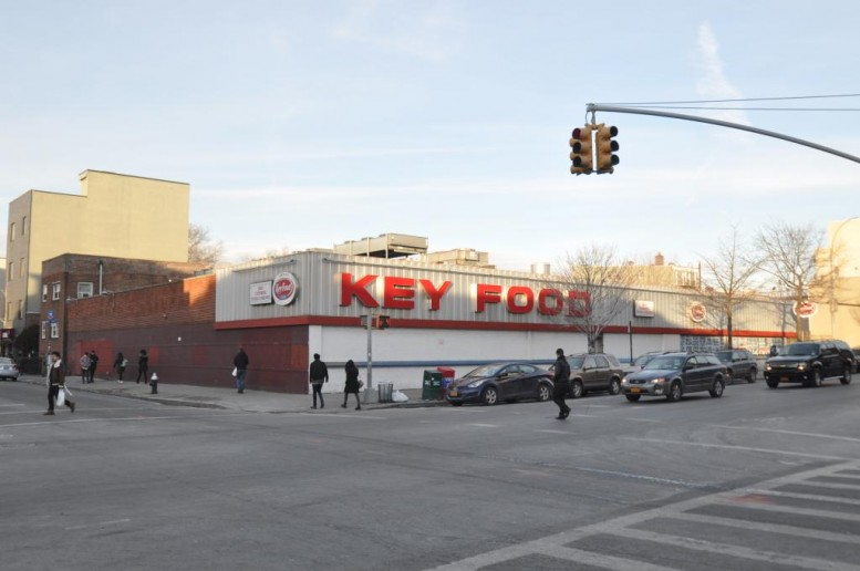 Key Food at 575 Grand Street in January 2015, photo by Christopher Bride for PropertyShark