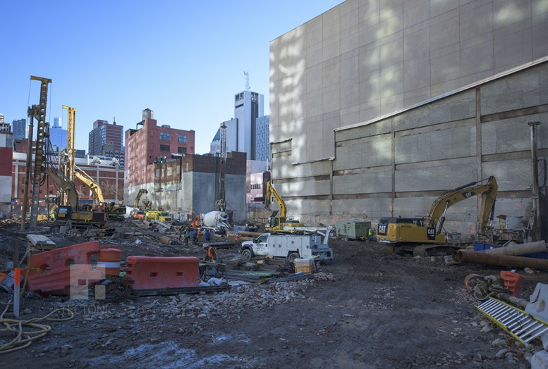 Work at 606 West 57th Street. Photo by Tectonic.