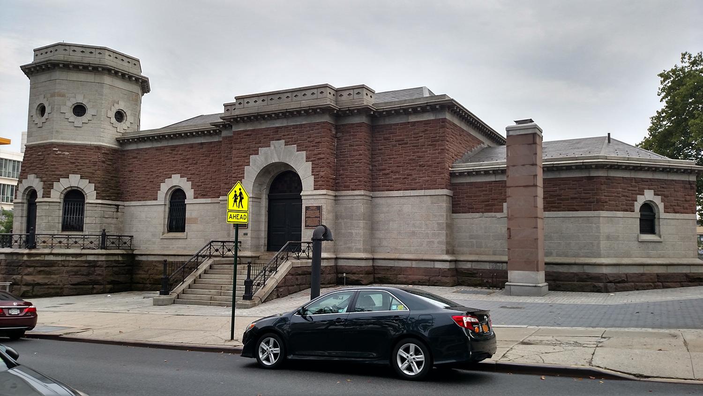 "Croton Aqueduct Gate House, now Harlem Stage. Photo by <a href=""https://www.flickr.com/photos/klg19/19965213150/in/photolist-wqo4Hc-wqfWhW-6M1gD9-6LWan8-2zrDfy-2zoChM-EgzYw-6LWeuk"">Karen Green/Flickr</a>"