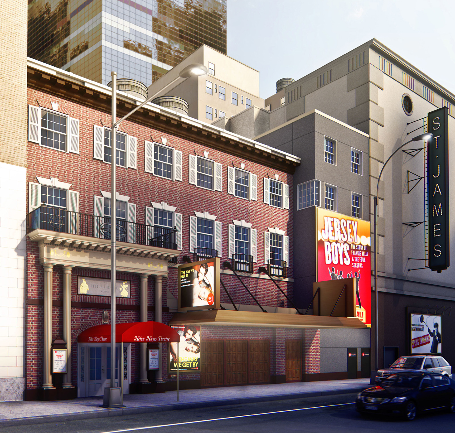 Rendering of renovated Helen Hayes Theater (not final)