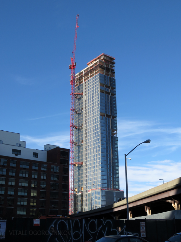 Looking north in late November, before formwork removal