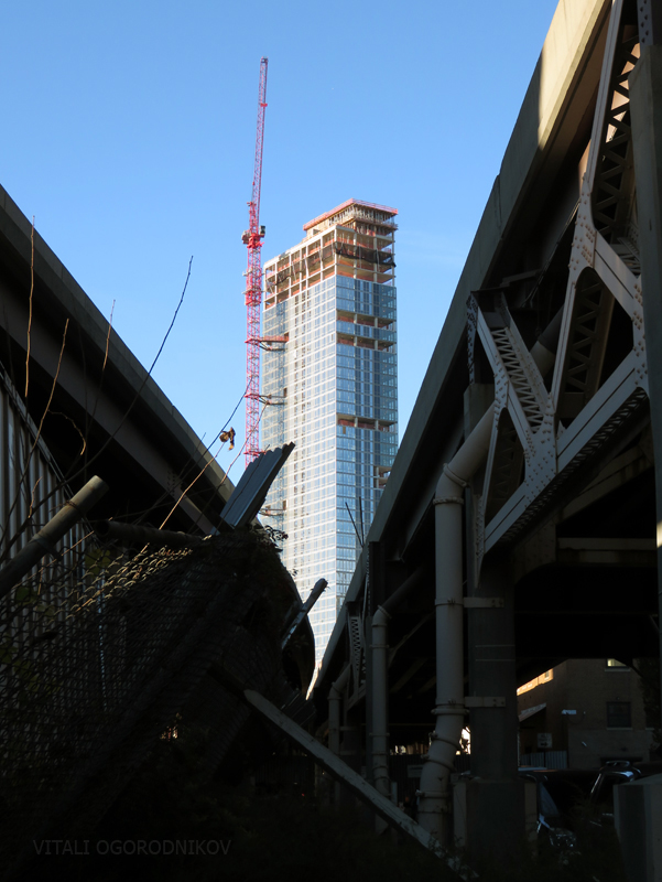 View from beneath the Queensboro bridge ramp a few blocks east