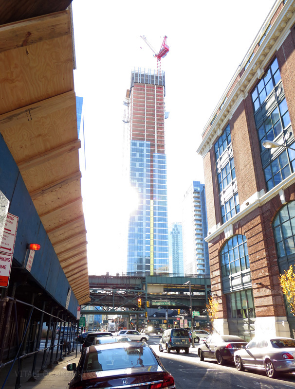 View to the southwest towards Queens Plaza and the 28 on 28th tower