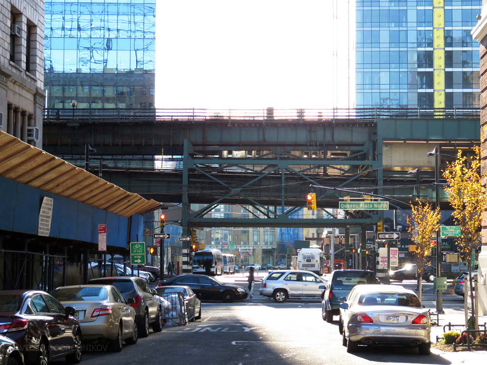 Looking south towards Queens Plaza
