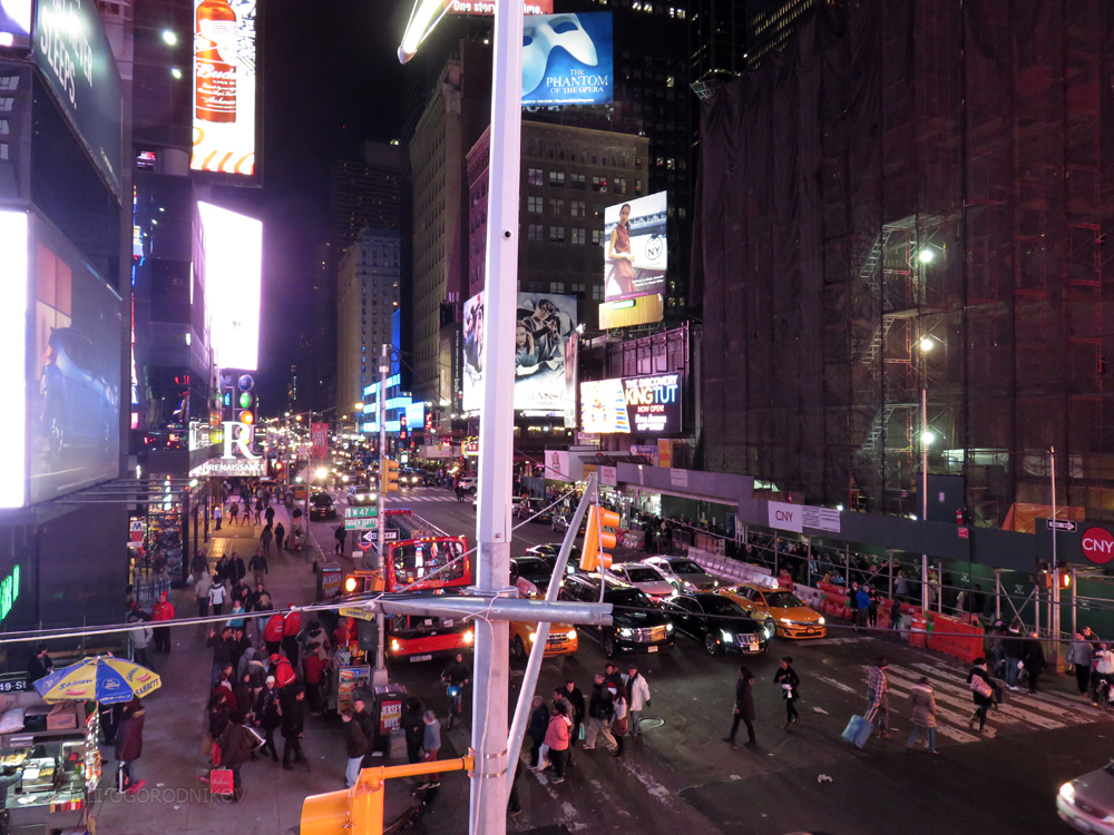 Looking north from Times Square along Seventh Avenue