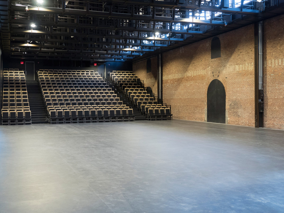 St. Ann's Warehouse theater space. Photo courtesy St. Ann's Warehouse via Curbed NY