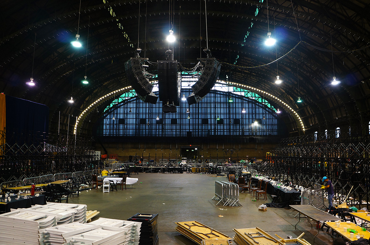 The main hall of the Bedford Union Armory