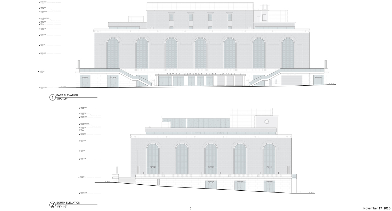 Bronx General Post Office renovation, plan approved in February 2015.