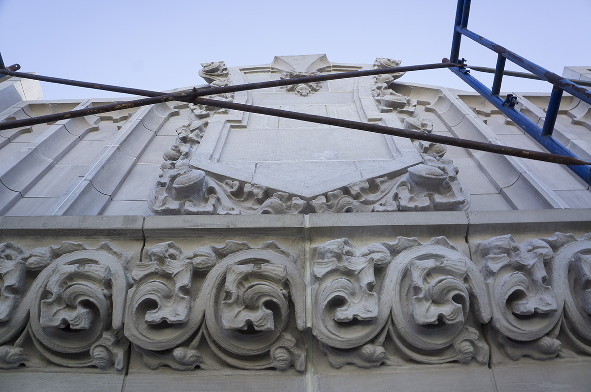 Another newly restored cornice at 212 Fifth Avenue