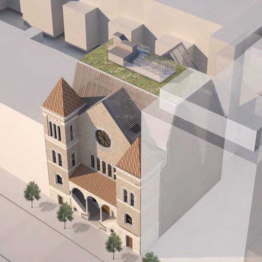 Rendering of the Mt. Pleasant Baptist Church.