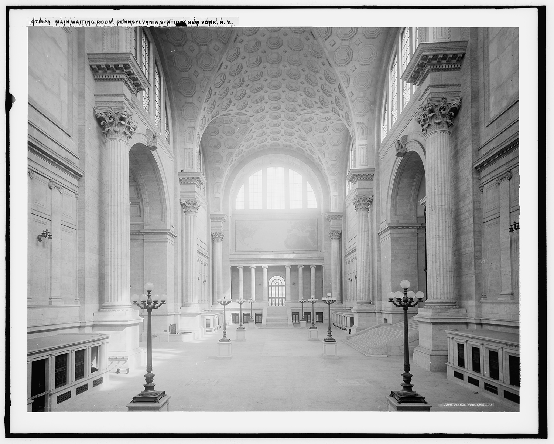Main waiting room at Penn Station. Photo via Library of Congress.