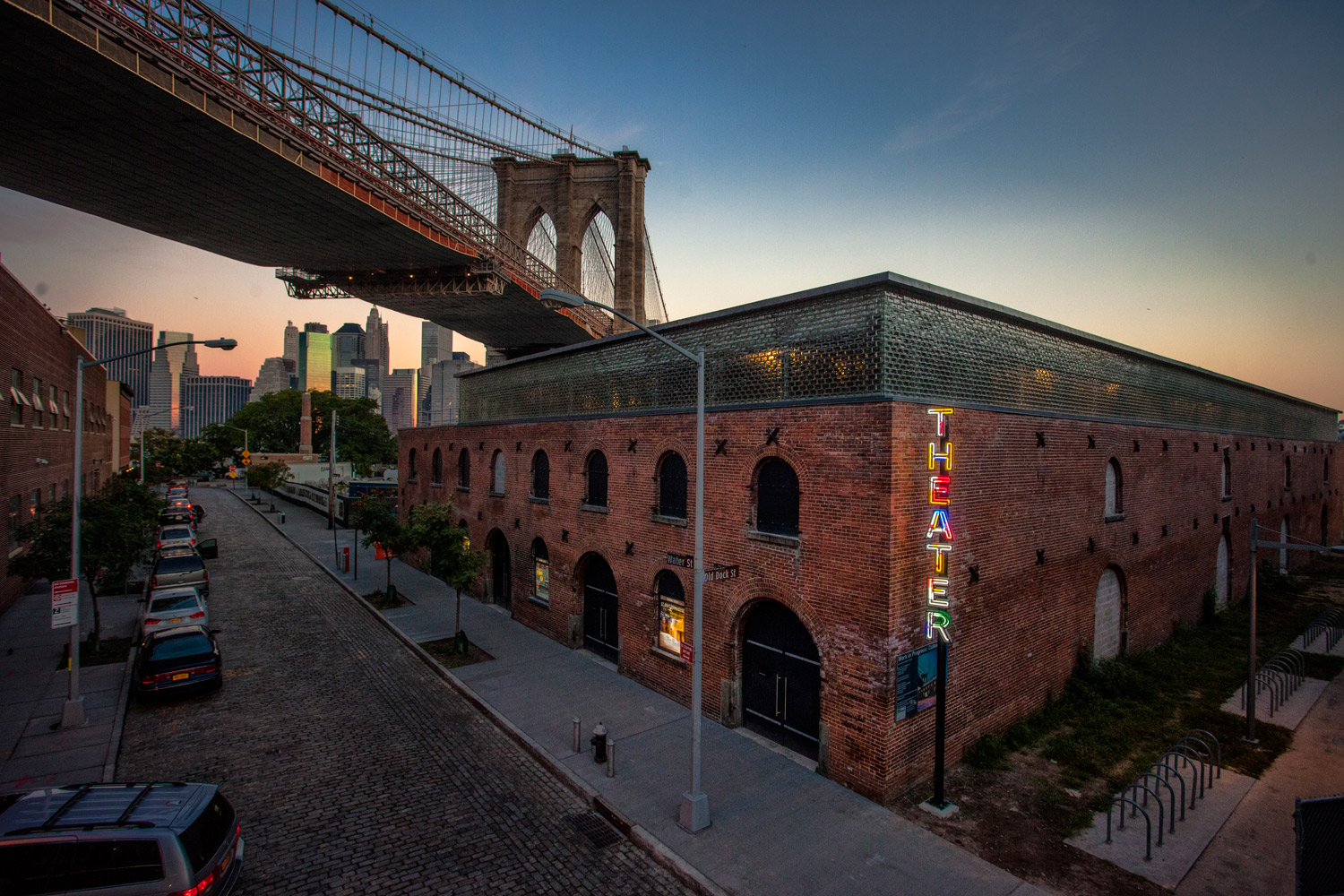 "St. Ann's Warehouse at the former tobacco warehouse. Photo courtesy St. Ann's Warehouse <a href=""http://ny.curbed.com/archives/2015/10/06/st_anns_reveals_new_theater_at_dumbos_tobacco_warehouse.php"">via Curbed NY</a>"
