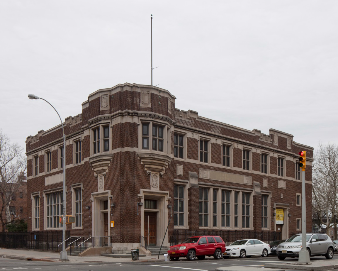 Brooklyn Public Library, Stone Avenue branch. LPC photo.