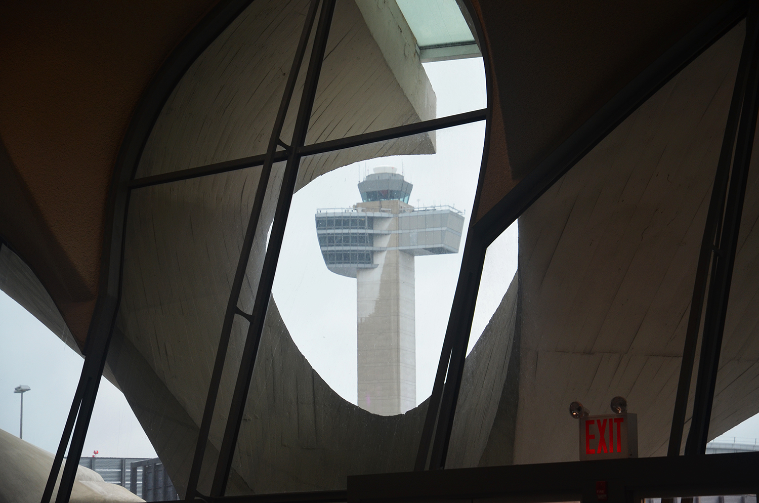The JFK control tower as seen from the TWA Flight Center in October 2014. Photograph by Evan Bindelglass.
