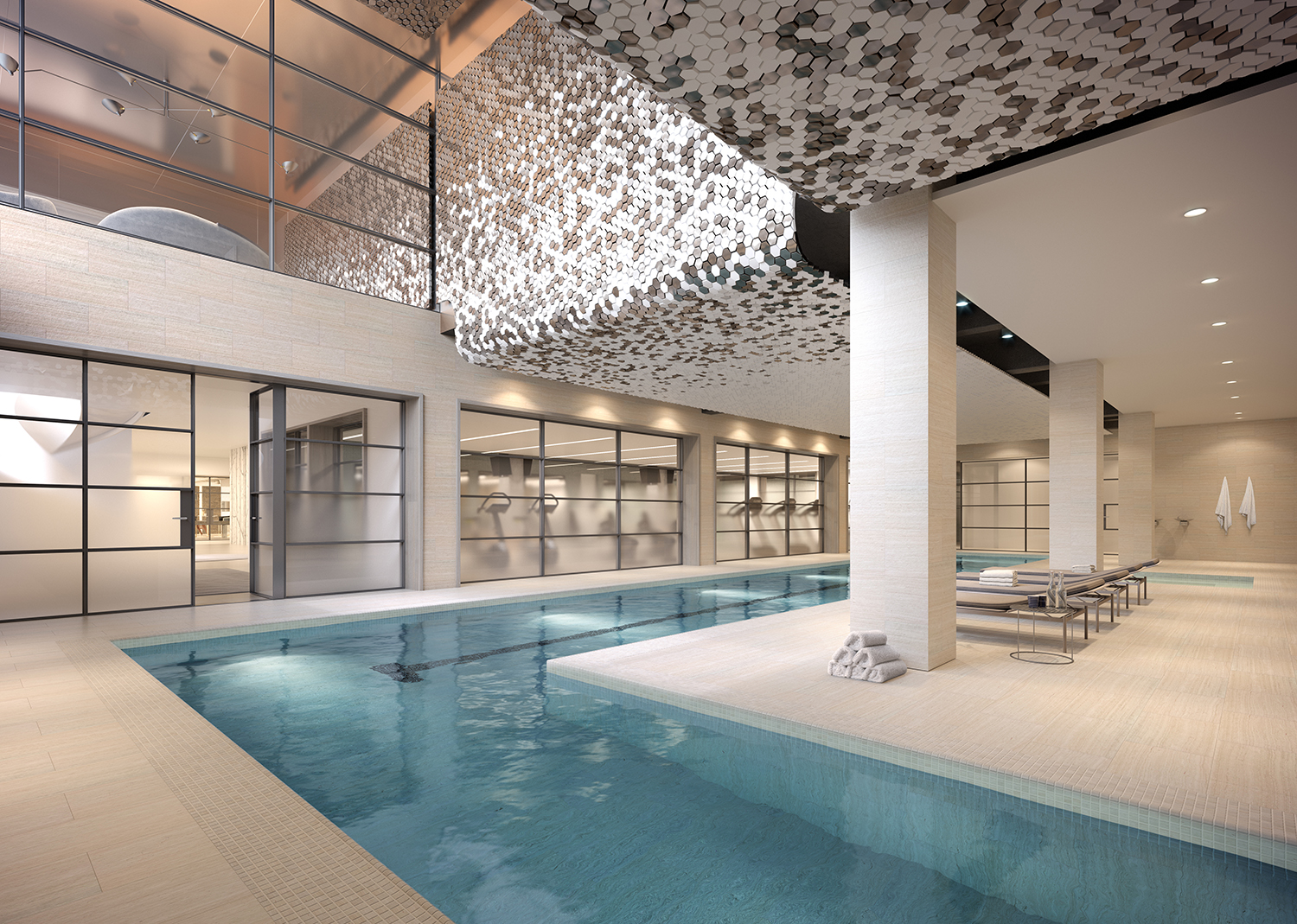 Rendering of the pool at 88 & 90 Lexington Avenue.