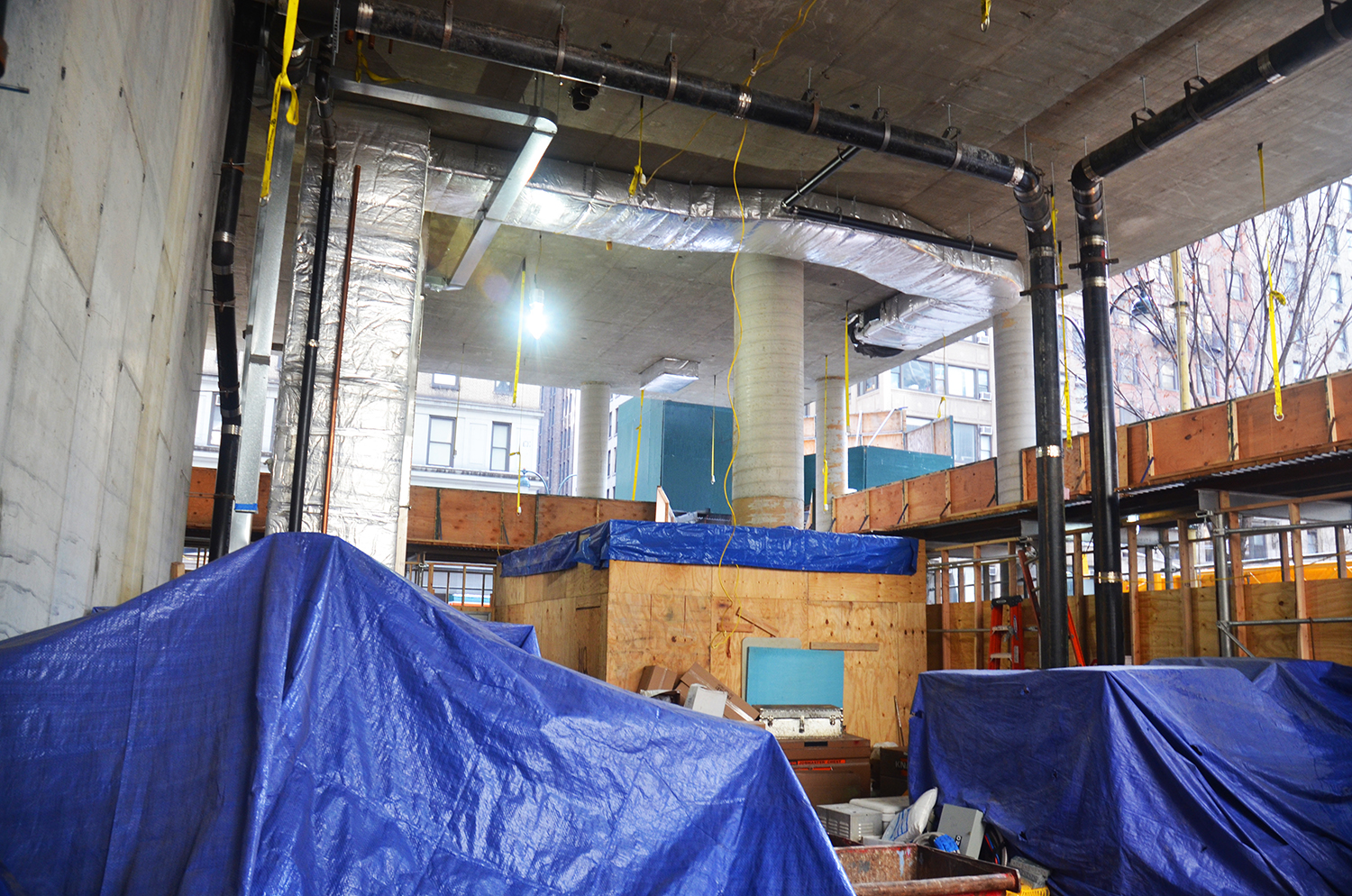 Lobby under construction at 172 Madison Avenue.