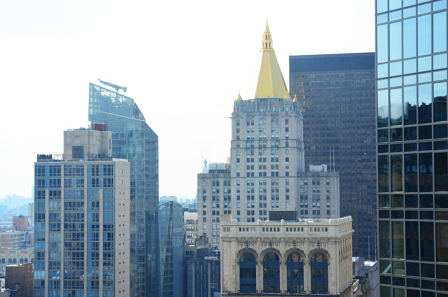 The New York Life Building as seen from 172 Madison Avenue.