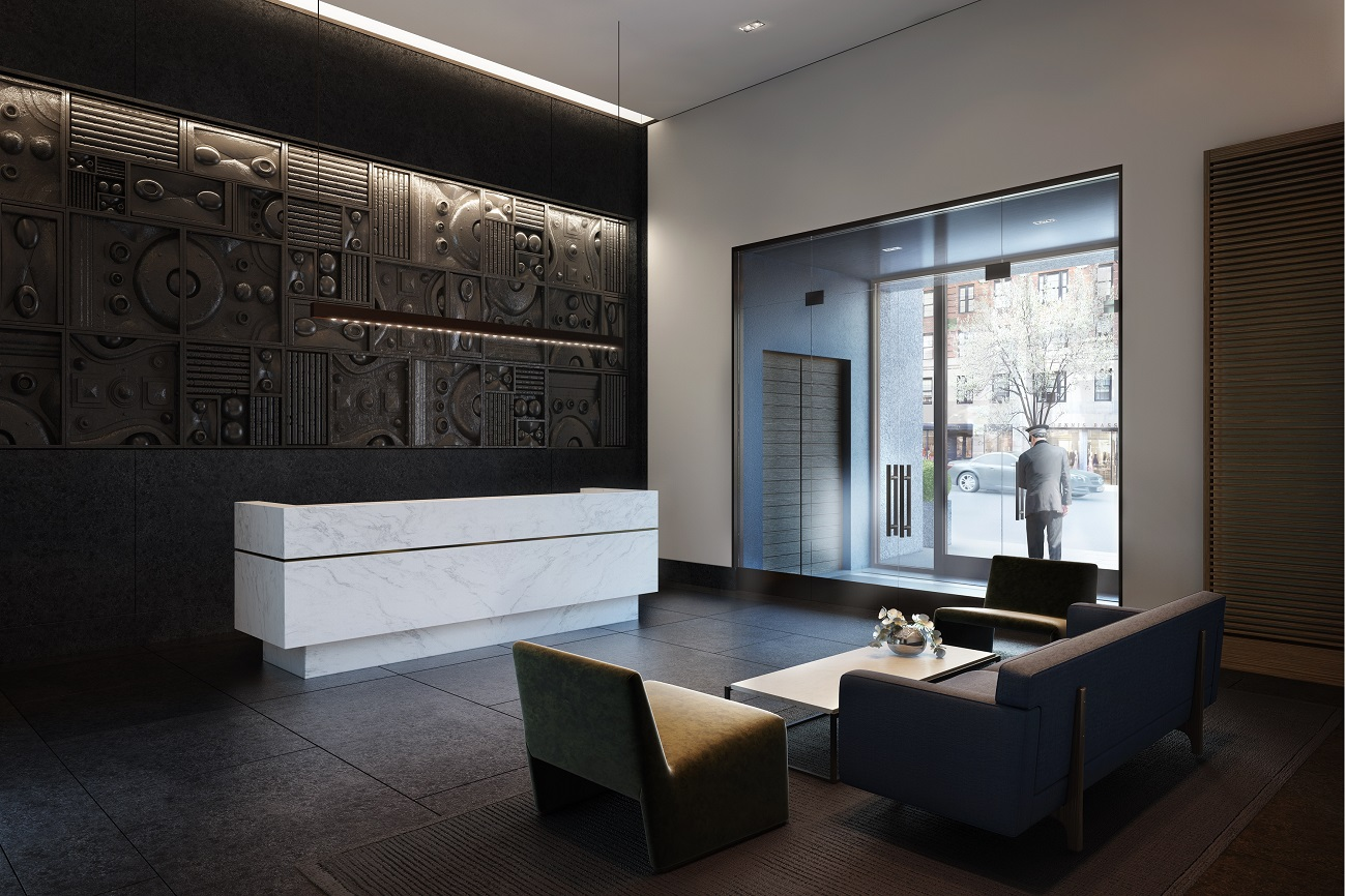 Rendering of the lobby of 172 Madison Avenue.