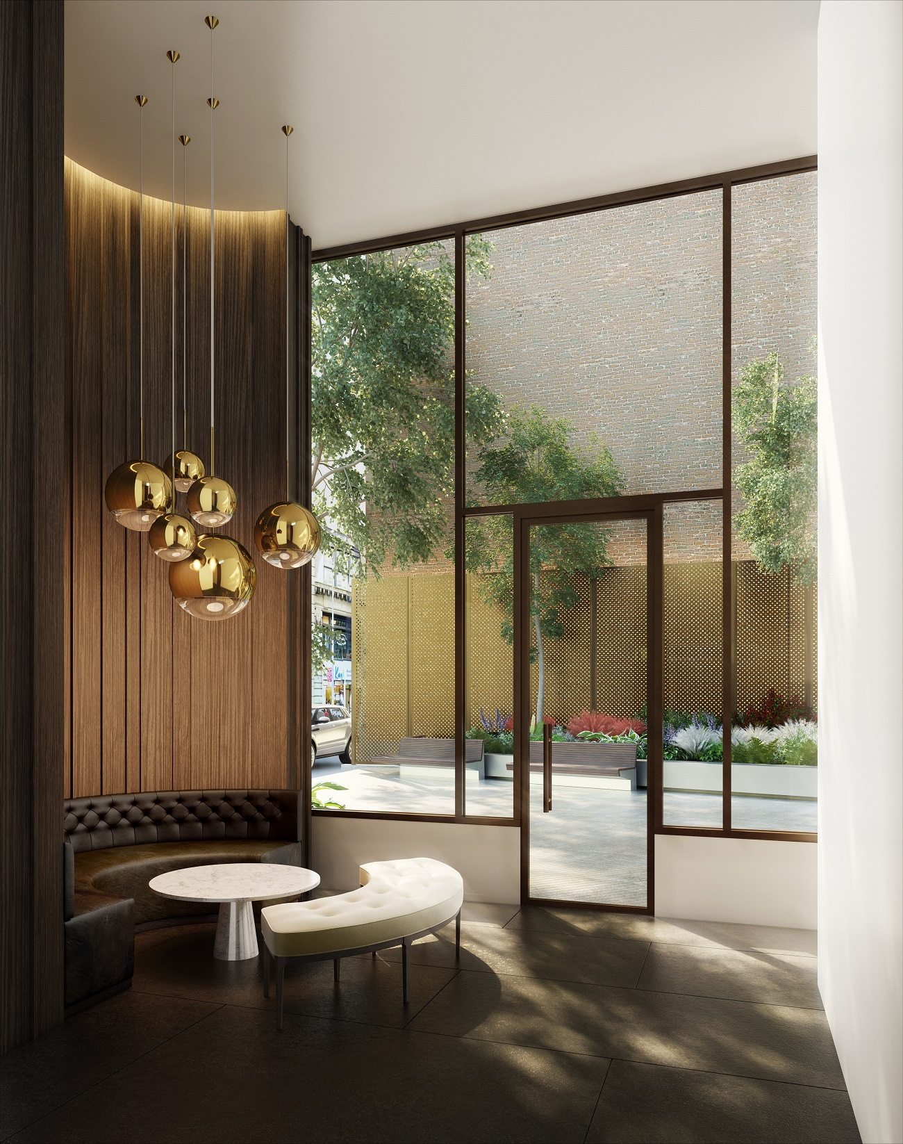 Rendering of a sitting area at 172 Madison Avenue.