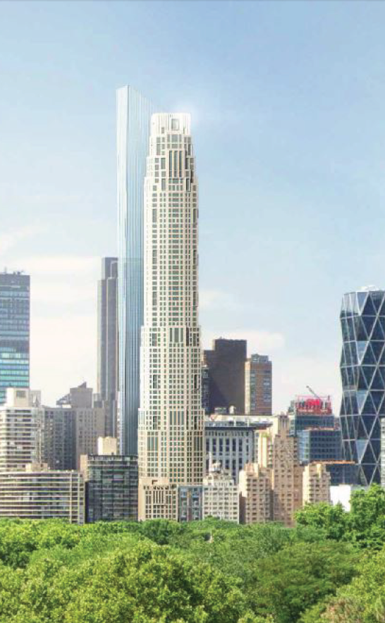 Rendering of 220 Central Park South. Via SLCE Architects.