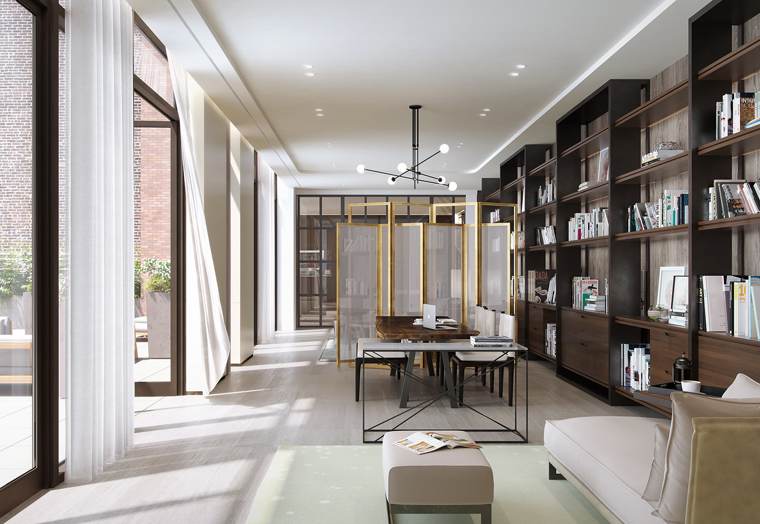Rendering of the library at 456 Washington Street. Exclusive to YIMBY.