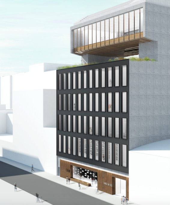 540 West 25th Street, rendering by Bonetti/Kozerski Studio