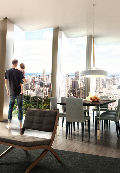 Potential interiors for 6 Columbus Circle, rendering via Cushman and Wakefield
