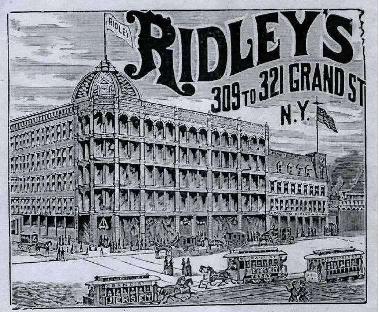 Edward Ridley & Son Department Store, New York Evening Telegram, 1886.