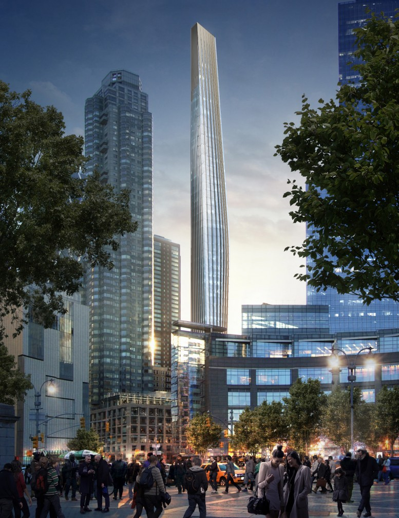 6 Columbus Circle, rendering via Cushman and Wakefield