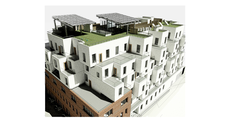 79 Quay Street, rendering by Cycle Architecture + Planning