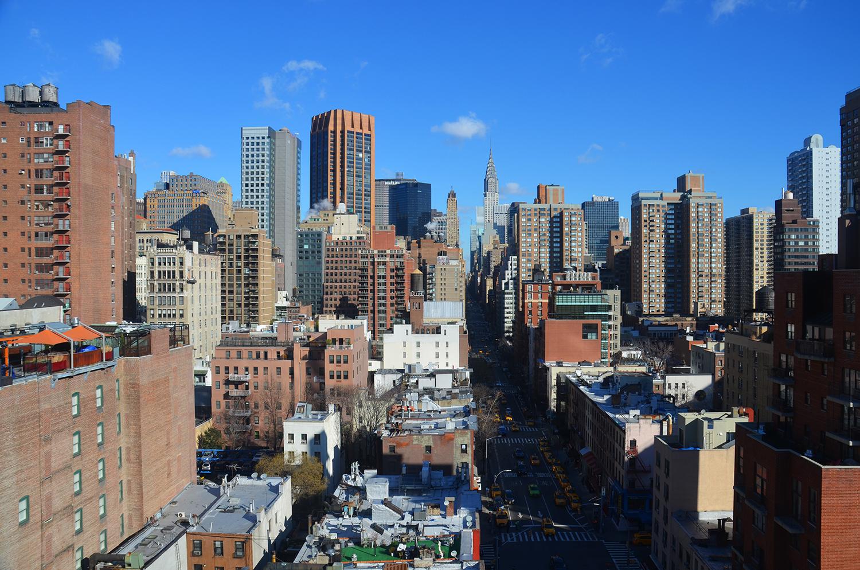 90 Lexington Avenue, view from lower penthouse.