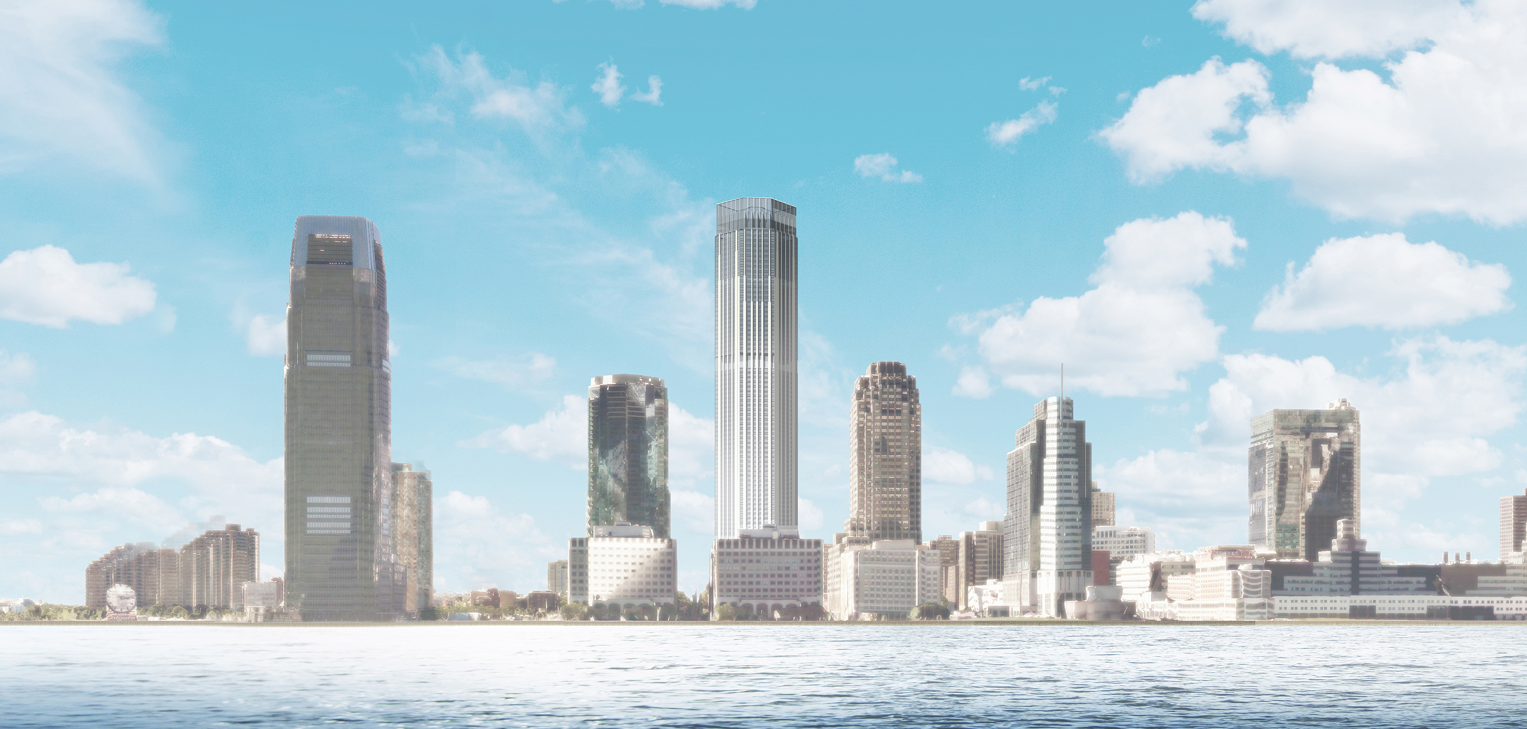 Rendering of 99 Hudson Street, January 2015. Via City of Jersey City.