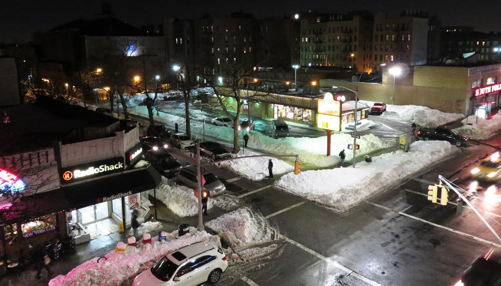 A sneckdown on Queens Boulevard