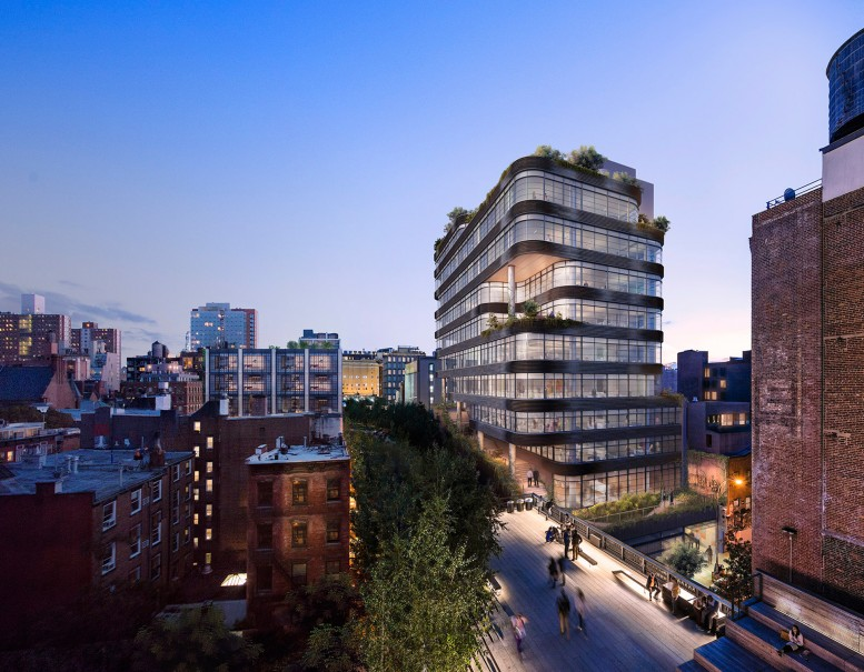 Rendering of 512 West 22nd Street. Via COOKFOX.