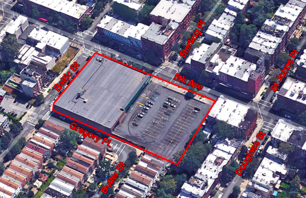 Aerial view of 120 Fifth Avenue via Avery Hall Investments