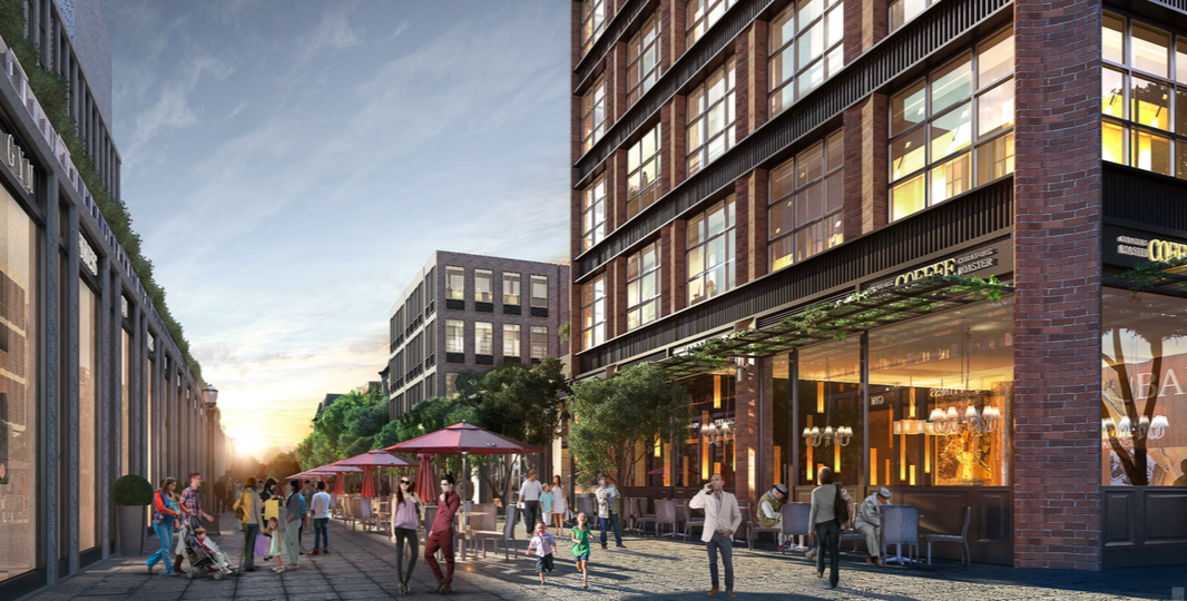 120 Fifth Avenue courtyard, rendering via SLCE Architects