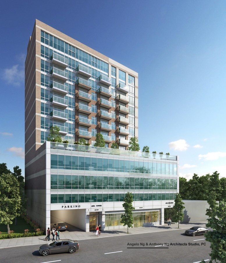 141-26 Northern Boulevard, rendering by Architects Studio