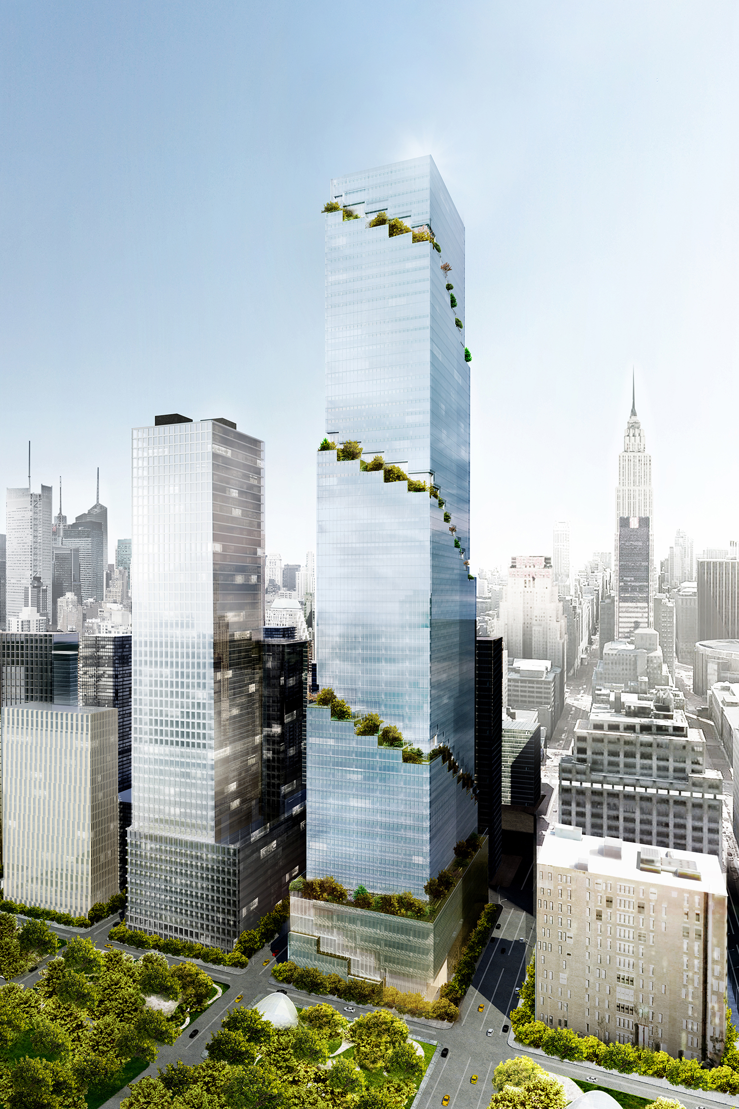 Rendering of 66 Hudson Boulevard. Credit: BIG/Tishman Speyer.